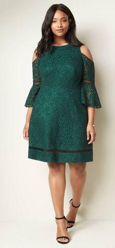 a73a224c99a Plus Size Cold Shoulder Lace Dress Plus Size Wedding Guest Dresses