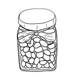 Bean Day Coloring Pages Jelly Beans In Jar Coloring Page