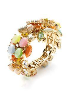 Rodrigo Otazu Multicolor Crystal & Resin Stone Bracelet