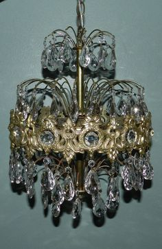 Hollywood Regency Chandelier SOLD by CharmedByVintage on Etsy