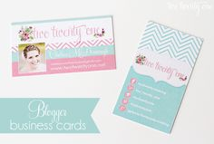 L.O.V.E. these business cards!!!  Blog + email info on front, social media info on back.  Printed at Vistaprint: 250 cards on premium matte stock for $33!  {Two Twenty One}