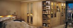 The warming, natural wood tones of the Beech finish in this Alto bedroom create an unrivalled air of tranquillity.