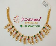 Stunning gold necklace with south sea pearl hangings. Stunning gold necklace with south sea pearl hangings. Vanki Designs Jewellery, Gold Jewellery Design, Gold Necklace Simple, Gold Jewelry Simple, Gold Jhumka Earrings, Bridal Jewelry Sets, Choker, Mango Mala, Diamonds