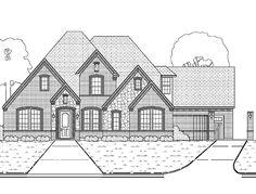 Home Plans HOMEPW10175 - 2,939 Square Feet, 4 Bedroom 3 Bathroom Tudor Home with 3 Garage Bays