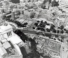 Roma Sparita - Via dei Fori Imperiali seen from above. Places To See, Rome, City Photo, Antiques, Travel, Antiquities, Antique, Viajes, Traveling