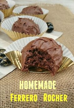 Make these worldwide popular Ferrero Rocher treats at home using only FOUR ingredients - quick and easy recipe ! [Father's Day homemade gift idea !]