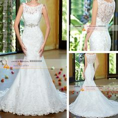 Scoop Neckline See Through Back Lace Wedding Dress With Beading New Mermaid Bride Dress Vestido De Noiva Sereia ZW0834     Tag a friend who would love this!     FREE Shipping Worldwide     Get it here ---> http://onlineshopping.fashiongarments.biz/products/scoop-neckline-see-through-back-lace-wedding-dress-with-beading-new-mermaid-bride-dress-vestido-de-noiva-sereia-zw0834/