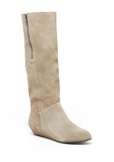 Perfect light colored flat boot....Ideli.com $50