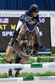 Jessica Springsteen and Vendicat W. at The Washington International Horse Show