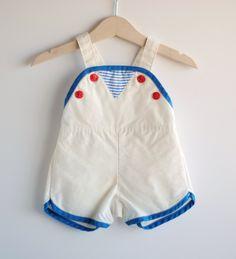 Vintage Baby Boy Romper - LITTLE SAILOR (6m). $12,00, via Etsy.