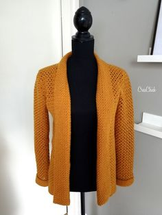 Stella vest haken - CreaChick ca nadel 4 Crochet Cardigan Pattern, Crochet Shirt, Crochet Jacket, Crochet Patron, Crochet Woman, Crochet Fashion, Beautiful Crochet, Crochet Clothes, Crochet Stitches