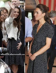 Kate Middleton Day 1 of Canadian Tour wearing the same Issa dress as she did the day before her wedding.