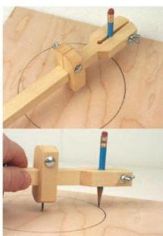 19-W2722 - Beam Plan de Trabajo de la madera Brújula