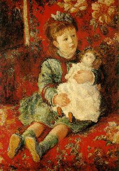 Portrait de Germaine Hoschedé avec sa poupée (C Monet - W 434),1877.