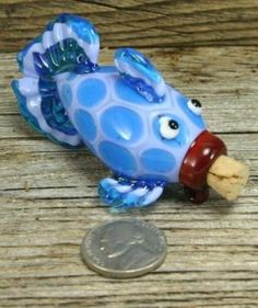 Glass Lampwork fish vessel