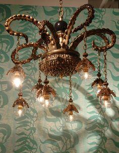 Ocean Octopuses Sea:  #Octopus tentacle chandelier, Adam Wallacavage.