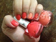 Hello Kitty Nail Polish! Geometric nail art!