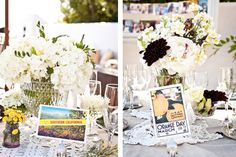 use postcards for place settings