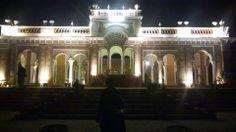 palace lit up at night in Bahawalpur