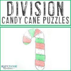DIVISION Candy Cane Math Worksheet Alternative | Christmas Activities or Game | 3rd, 4th, 5th grade, Activities, Christmas/ Chanukah/ Kwanzaa, Games, Holidays/Seasonal, Homeschool, Math Centers, Winter