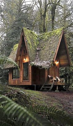 40 Ideas garden shed interiors ideas tiny house for 2019 Tiny House Cabin, Tiny House Living, Cabin Homes, Log Homes, My House, Tiny Homes, A Frame Cabin, A Frame House, Little Cabin