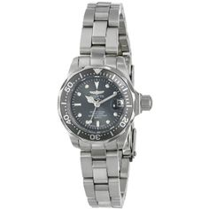 Invicta Women's 14984 Pro Diver Analog Display Swiss Quartz Silver Watch ** Click image to review more details. (This is an affiliate link) #Accessories