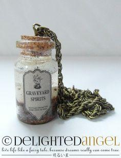 graveyard spirits - gothic necklace
