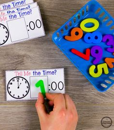 Looking for fun math centers and time and money worksheets? This set is filled with hands-on math activities to practice coin recognition, value of money and telling time. Telling Time Games, Telling Time Activities, Money Activities, Kindergarten Math Activities, Teaching Time, Sorting Activities, Preschool Curriculum, Maths, Homeschooling