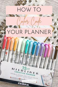 Planner Tips, Goals Planner, Happy Planner, Best Planners, Day Planners, Printable Planner, Planner Stickers, Printables, Color Coding Planner