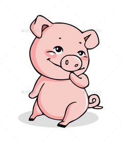 Buy Pig by vector_factory on GraphicRiver. a vector illustration of a pig, cute pig character. Pig Character, Character Design, Cartoon Pics, Cute Cartoon, Pig Crafts, Pig Drawing, Pig Art, Cute Piggies, Cartoon Design
