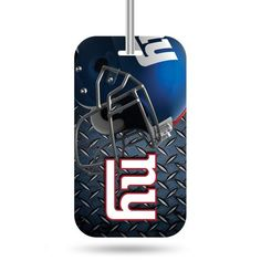 Identify your luggage as your own with this officially licensed luggage tag. Made with a thick plastic front coat with licensed design and identification form on the back. Tag easily attached to luggage with handy loop through leash. Luggage Store, Luggage Sets, New York Giants Football, Best Deals Online, New England Patriots, Light Photography, Online Bags, Steel, Tags