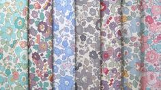 Liberty of london - limited edition - betsy print set - 9 pcs Fabric London, Liberty Of London Fabric, Liberty Art Fabrics, Liberty Print, Flower Power, Textile Prints, Textiles, Fabulous Fabrics, Quilting Fabric