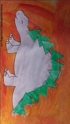 activité manuelle : dinosaure