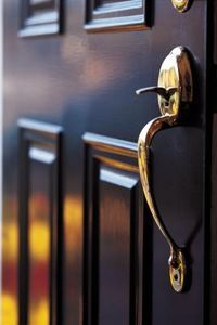 The front door is often the first item up for inspection by perspective home buyers. If the front door looks good, chances are your customer will have a favorable impression of the house from the . Mdf Doors, Wood Entry Doors, Midcentury Front Doors, Replacing Front Door, Exterior Entry Doors, Front Door Handles, Door Jamb, Home Design Diy, Home Upgrades