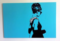 Breakfast at Tiffany's Audrey Hepburn Hand Painted Pop #Art Painting
