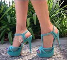 Glamorous Contrast Color PU Dress Sandals