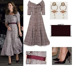 Duchess of Cambridge dazzled in Erdem for Victoria and Albert Museum visit Kate Middleton Prince William, Prince William And Kate, Prince Charles, Duchess Kate, Duke And Duchess, Duchess Of Cambridge, Daytime Outfit, Kate Middleton Style, Victoria And Albert Museum