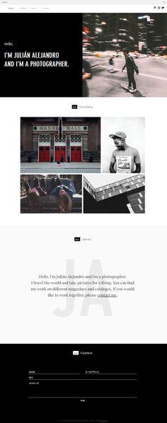 Life Photographer Portfolio Template