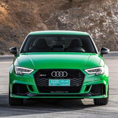 Who is 'hulk' enough? -- #newRS3sedan #greenRS3 #newRS3 #blackoptics pics Audi ---- oooo #audidriven - what else ---- #Audi #RS3 #AudiRS3 #RS3sportback #RS3sedan #quattro #4rings #green #drivenbyvorsprung #Audicolor #carsbyaudisport #audisport #greenaudi #hulk #thehulk #greenhulk