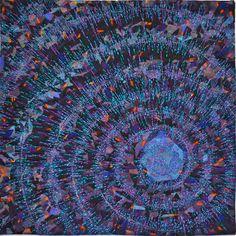 Maelstrom ©Anna Hergert, 2012.  SAQA benefit auction.  Metallic thread painting.
