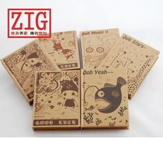 Kraft cover Sketchbook A6 Hard bound 200 Sheets/400 pages 85gsm kraft paper #ZIG
