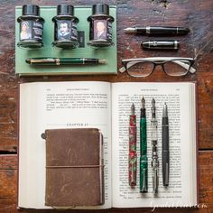 Calling all bibliophiles! Click the link in our bio to find our collection of literary inspired fountain pens, ink, and notebooks perfect for curling up and writing the evening away. Who is your favorite author? ✒️