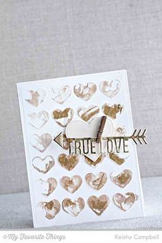 Pierced Heart STAX Die-namics, Straight to My Heart Die-anmcis, Background Hearts Stencil - Keisha Campbell #mftstamps