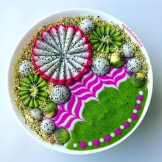 Happy Hump Day! Y'all might've seen my video yesterday of cutting this pitaya flower: this is what I was up to! PS, this combo is AMAZING! Why have I not made it before? --- Ingredients: ✅ Baby kale & spinach ✅ Banana ✅ Peach ✅ Mango ✅ Pineapple ✅ Kiwi ✅ Pitaya ✅ @mrm_usa Moringa Powder ✅ @ommushrooms Beauty Powder --- Swirls were made with @so_delicious Coconut Milk Yogurt: Pink is mixed with @just_blends Pink Pitaya Powder --- A big thank you to my ladies, @whatsreallyinyourfo...