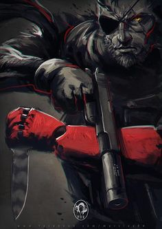 Ok. Time to buy a PS4.  Big Boss by MarcWasHere on deviantART