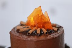 Dauntless themed Chocolate Cake!