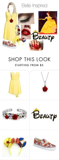 """""""Disney bound Belle"""" by atl-rock-chick-r5 ❤ liked on Polyvore featuring New Look, Bling Jewelry and Vans"""