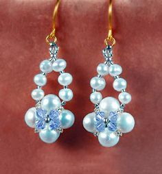 Free pattern for beautiful beaded earrings Ella | Beads Magic