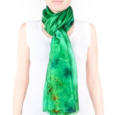 large bright green scarf /  magnificent emerald by CeliaEtcetera