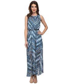 Calvin Klein Calvin Klein  Scoop Neck Chiffon Maxi Dress Adriatic Womens Dress for 69.99 at Im in! #sale #fashion #I'mIn